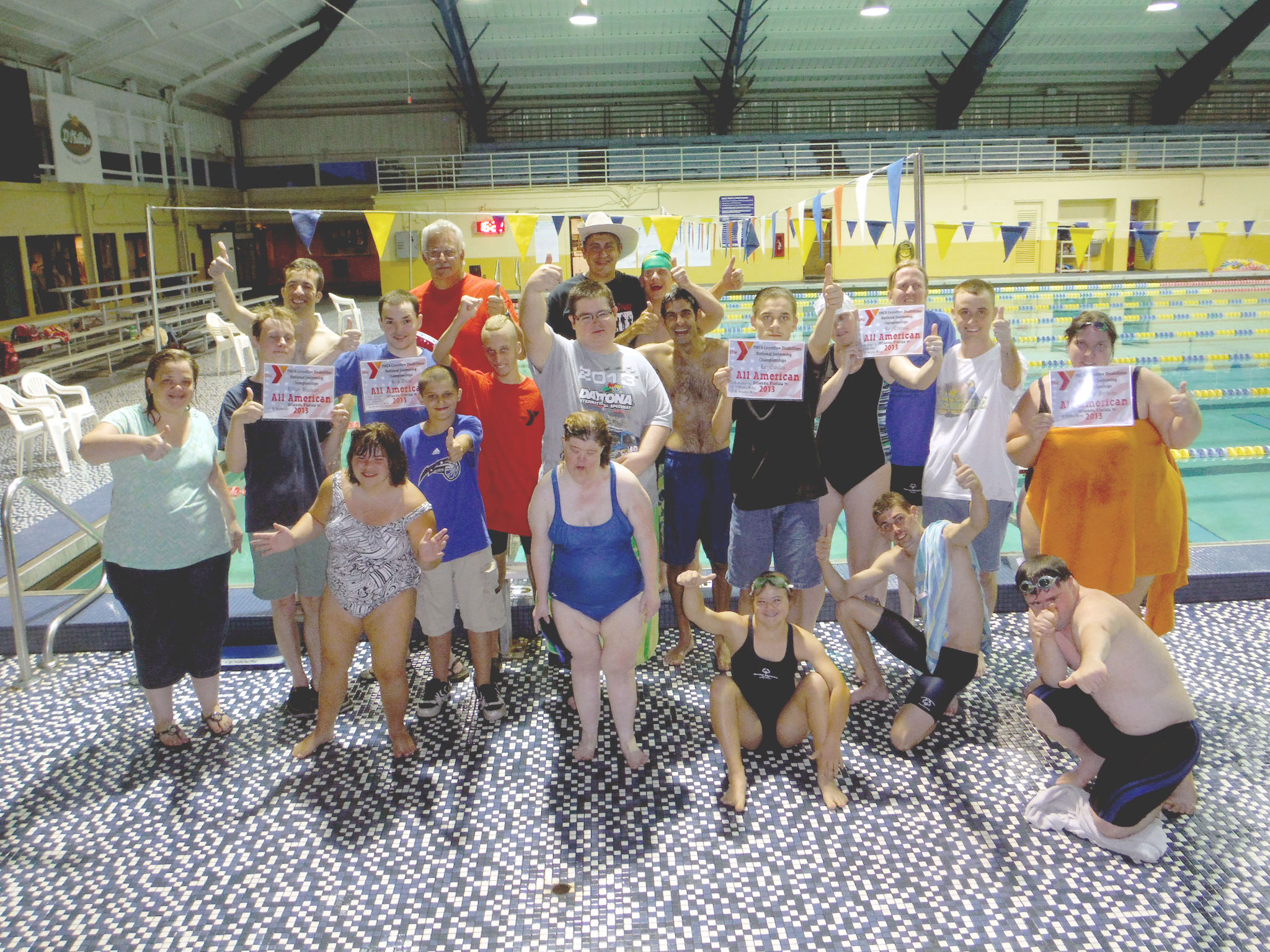 Everyone swam great at county games!