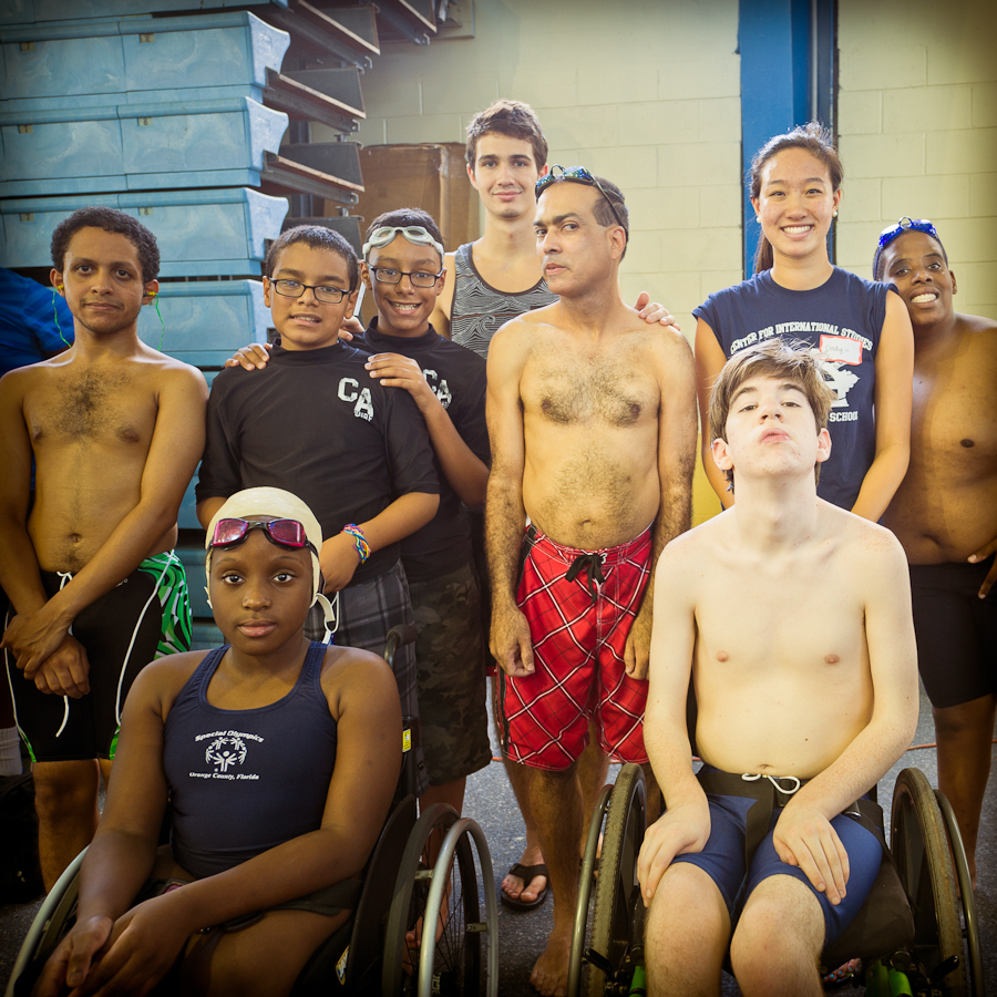 Coach Apryle's group swam great.