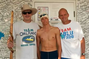 Gregg will do his 500th Lucky's Lake Swim crossing this Thursday.  Way to go Gregg.