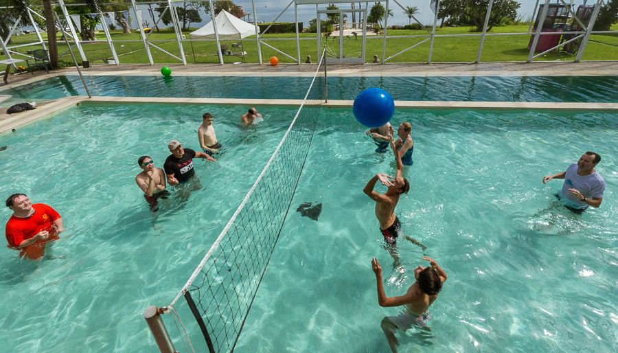 Everyone had a great time at Coach Lucky's pool party on July 5th.